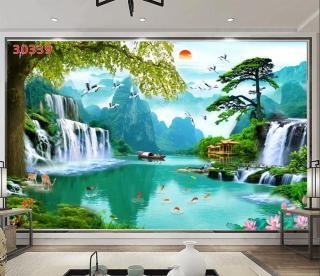 Tranh dán tường 3D Phòng Khách Thiên Nhiên Giao Hòa, 399( Đã tích hợp sẵn keo) thumbnail