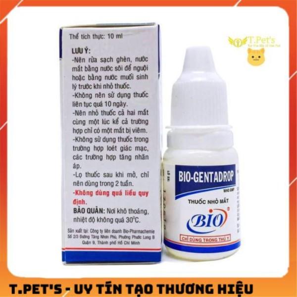 Trị Viêm Mắt, Đỏ Mắt Chó Mèo Bio-Gentadrop