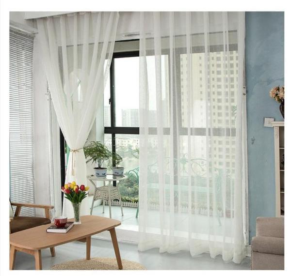 Rèm voan trang trí - voan xô trắng RV0001 4m x 2.7m cao
