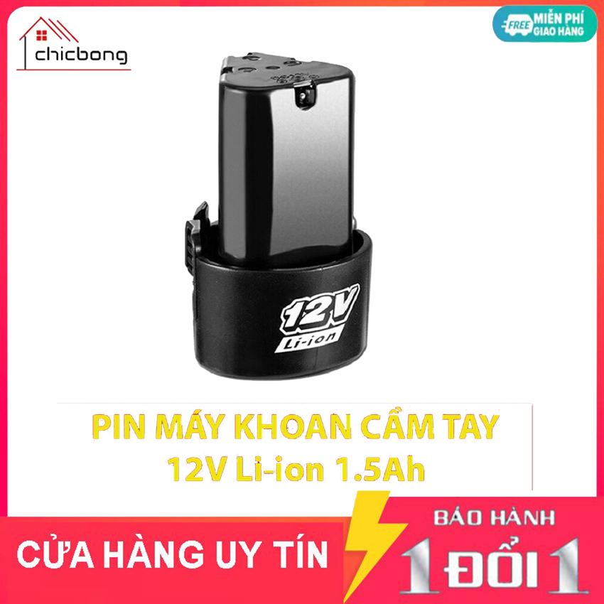 Pin máy bắt vít máy khoan cầm Tay Li-Ion 1500mAh 3 cạnh tam giác dùng cho các loại máy khoan bắn vít cầm tay 12V