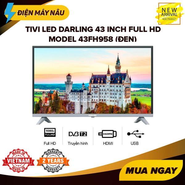 Bảng giá Tivi Led Darling 43 inch Full HD - Model 43FH958 (Đen) (Tích hợp DVB-T2) - Bảo Hành 2 Năm