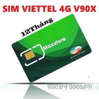 Sim 4G Viettel V90X (30Gb + gọi miễn phí tháng +20phút gọi ngoại mạng ) Dùng Max Rẻ Cả Tháng Mất 90k thumbnail