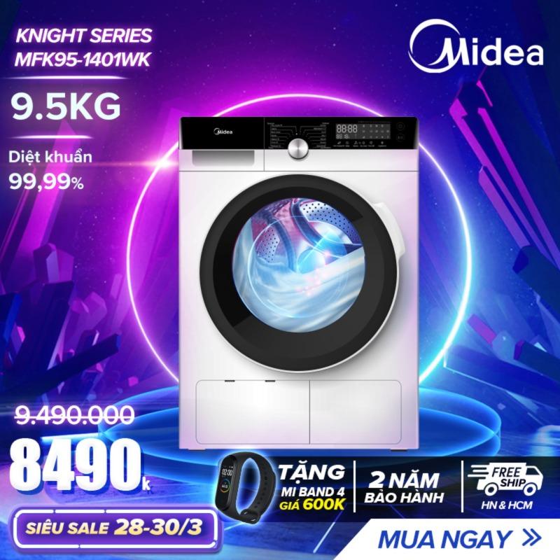 Bảng giá Máy Giặt Cửa Trước 9.5kg Midea MFK95-1401 (Diệt Khuẩn, 14 Chế Độ Giặt) - Hàng Phân Phối Chính Hãng Bảo Hành 2 Năm Điện máy Pico