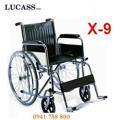Xe lăn tiêu chuẩn Lucass X-9 cao cấp