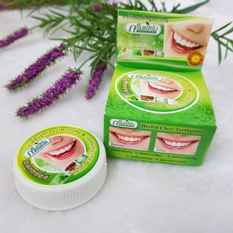 Kem Tẩy Trắng Răng Green Herb Herbal Clove Toothpaste Thái Lan giá rẻ