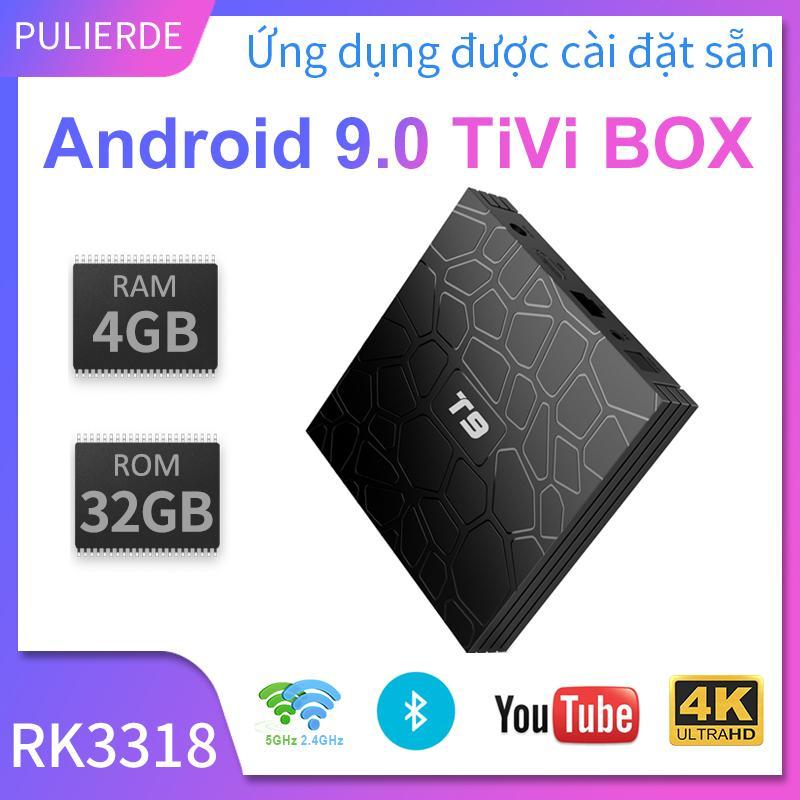 Bảng giá [Hot Deal][Hộp TV thông minh]T9 tivi box Android 9.0 4GB RAM 32GB/64GB ROM 5GHz wifi RK3318 Hỗ trợ Bluetooth 4K smart TV box Media Player Điện máy Pico