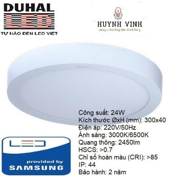ĐÈN LED SAMSUNG PANEL ỐP TRẦN TRÒN 24W DUHAL - SDGC524