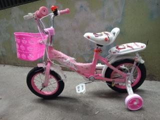 xe đạp trẻ em - xe đạp cho bé gái - dành cho bé 2-6 tuổi - mẫu mới khung vành bằng sắt siêu trắc chắn bánh 12 2