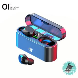 Tai nghe Bluetooth 5.0 không dây OI AirSounds 1600mAh Màn hình LCD công suất cực lớn 6H Phát lại & Sạc nhanh Cảm biến cảm ứng kết nối nhanh điều khiển âm lượng Khử tiếng ồn Bass sâu Màu Đen thumbnail
