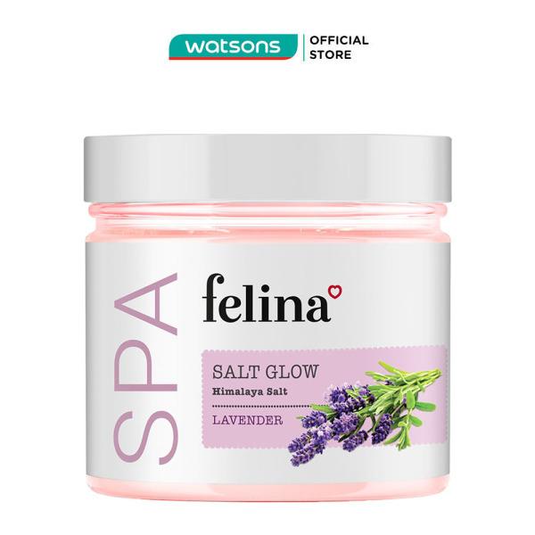 Muối Tắm Felina Salt Lavender Tẩy Tế Bào Da Chiết Xuất Hoa Oải Hương 500g