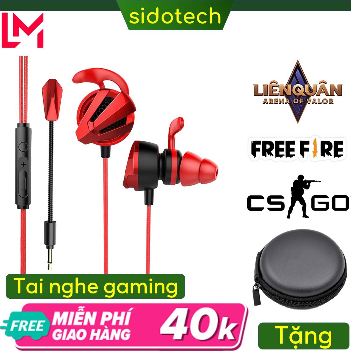 Tai nghe gaming có mic Sidotech G4m pro cho điện thoại dùng cho game thủ chơi game mobile pc laptop thuộc dòng tai nghe gaming có dây chuyên dụng cho game pubg moblie liên quân lmht tốc chiến