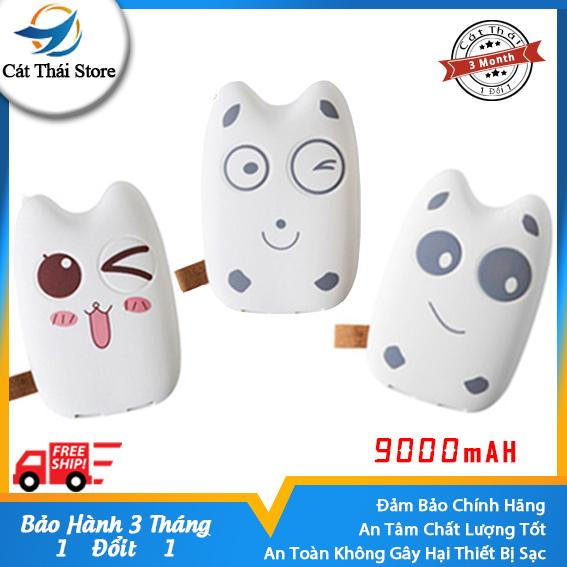 Pin Sạc Dự Phòng Cát Thái 9000mAh Totoro II tiện tay dễ cầm hoạt hình dễ thương vỏ mịn cảm giác cầm thoải mái ngoại hình dễ nhìn tương thích iPhone XiaoMi ASUS,OPPO