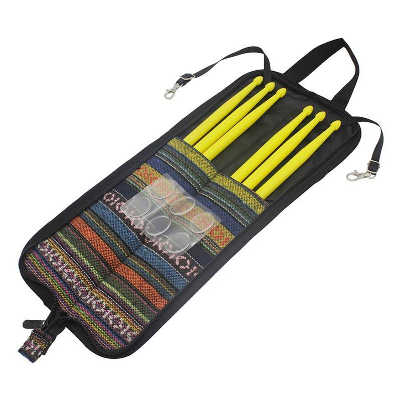 Drum Set Accessories 3 Set Nylon Drum Sticks + 6Pcs Drum Damper Gel Pads Muffler Mute with Carry Bag
