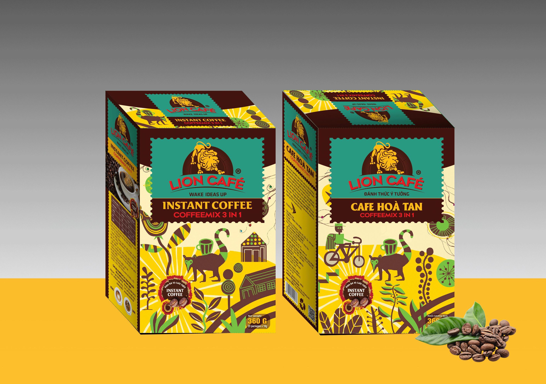 Lion coffee - LION hòa tan 3in1 - 20 que/hộp Nhật Bản