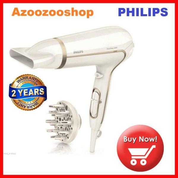 Máy sấy tóc cao cấp philips HP8232/00, 2200 W, Sấy khô nhanh ở nhiệt độ thấp hơn với ThermoProtect, đầu tán khí tạo kiểu tóc dày & đầu sấy tạo kiểu 14 mm nhập khẩu