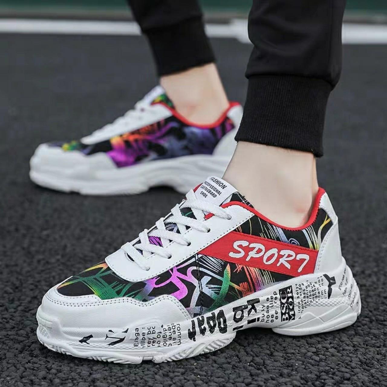 Giày Thể Thao Nam Phối Màu Restro Mới Nhất 2019 Đang Trong Dịp Khuyến Mãi