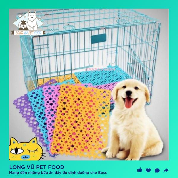 Tấm lót sàn nhựa chống lọt chân dành cho chó mèo Phụ kiện Long Vũ