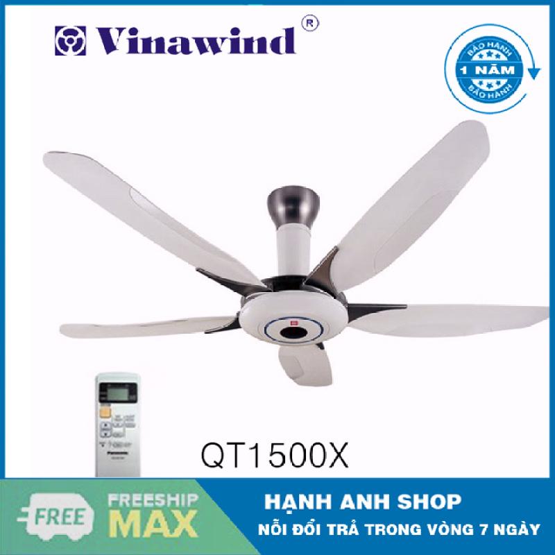 [ Hàng Việt Nam Chất Lượng Cao ] Quạt trần điện cơ Vinawind QT1500X(có điều khiển từ xa) - Bảo Hành 12 Tháng