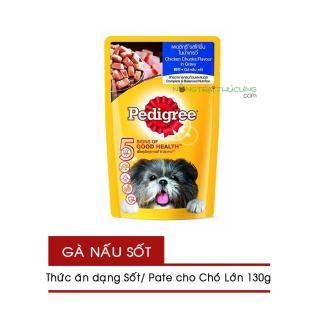 Gói Pate Sốt cho Chó Lớn Pedigree 130g - Vị Gà Nấu Sốt - [Nông Trại Thú Cưng] thumbnail