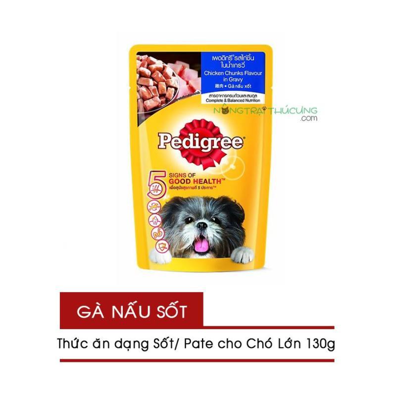 Gói Pate/ Sốt cho Chó Lớn Pedigree 130g - Vị Gà Nấu Sốt - [Nông Trại Thú Cưng]