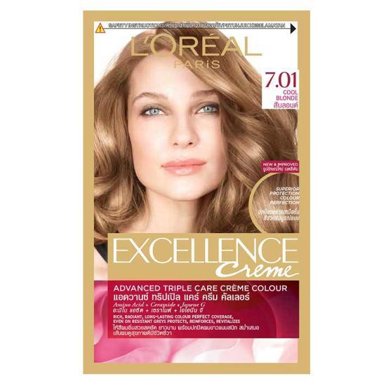 Thuốc Nhuộm Tóc L'Oreal Exc Crème – 7.01 Cool Blonde nhập khẩu