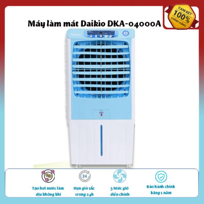 Máy làm mát Daikio DKA04000A-Loại quạt: Quạt điều hòa ,diện tích làm mát 25 – 30 m2., Tạo hơi nước làm dịu không khí,Tốc độ gió: 3 mức, hàng chất lượng giá ưu đãi.
