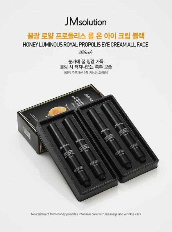 Thanh Lăn Dưỡng Mắt JMsolution Honey Luminous Royal Propolis Roll-on Eye Cream cao cấp