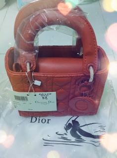 Túi lady Di.or FULBOX màu đỏ thumbnail