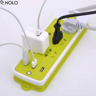 [GIÁ TỐT] Ổ CẮM ĐIỆN CHỐNG GIẬT CÓ LỖ CẮM USB- Ổ CẮM ĐIỆN XANH LÁ 6 LỖ SẠC 3 LỖ USB TIỆN LỢI - SẠC CỰC NHANH, AN TOÀN CHO MỌI THIẾT BỊ thumbnail