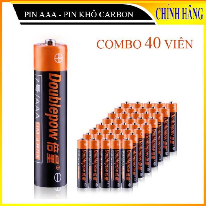 Combo 40 viên Pin tiểu khô carbon DoublePow, pin 1,5V (chọn pin tiểu AA và pin đũa AAA)