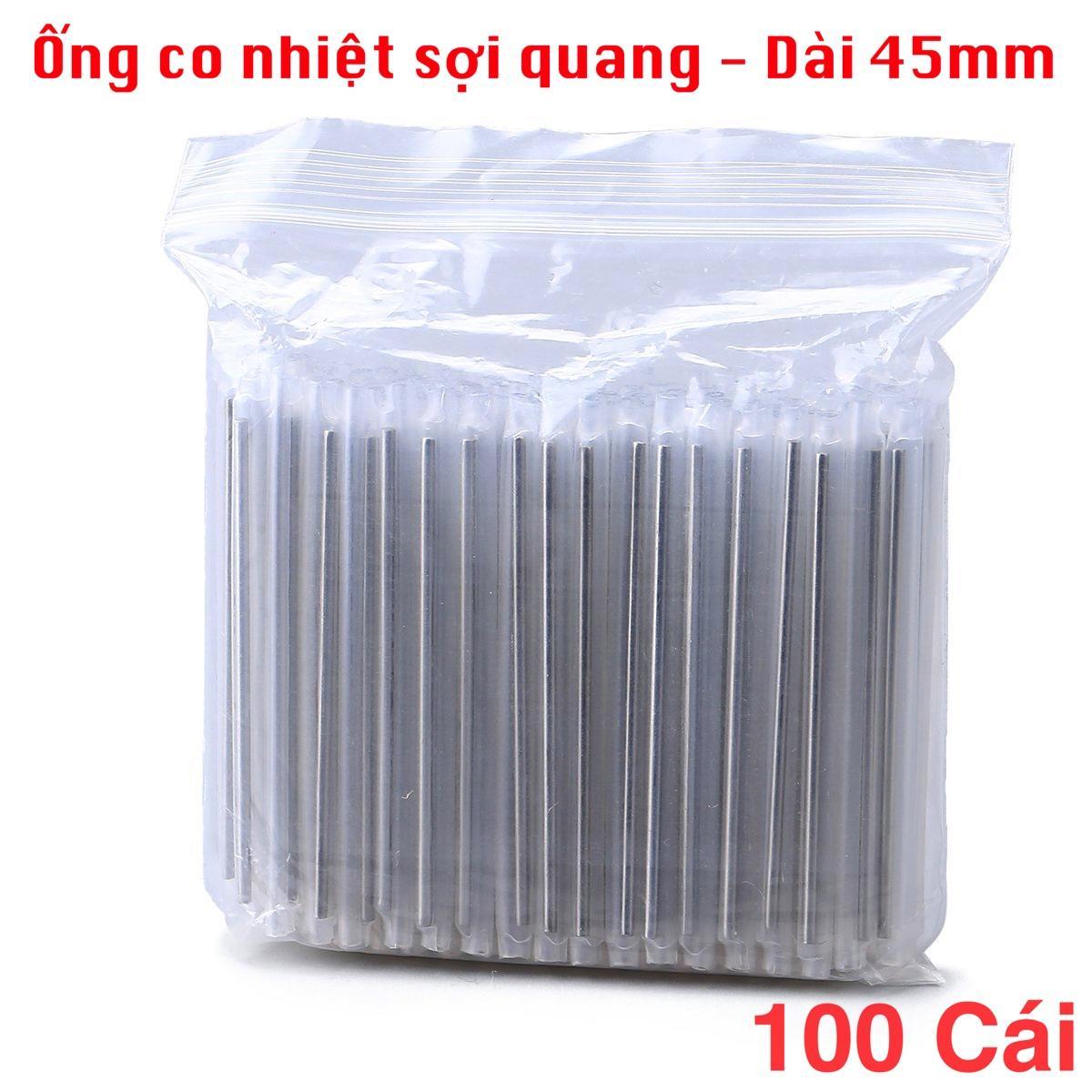 Giá Bộ 100 Ống co nhiệt bảo vệ mối hàn sợi quang 45mm