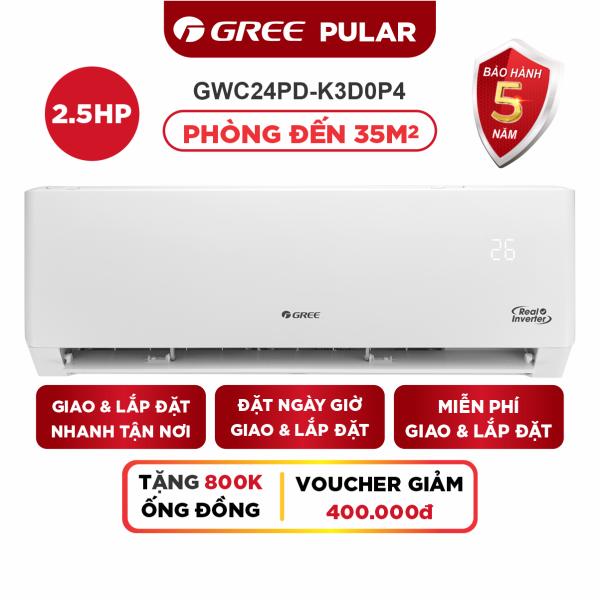 Bảng giá Máy Lạnh GREE PULAR 2.5HP Inverter - Phù Hợp Phòng Đến 35m2