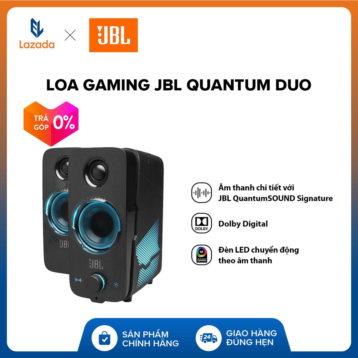 [VOUCHER 10%  - TRẢ GÓP 0%] Loa Gaming JBL Quantum Duo L Công Nghệ JBL QuantumSOUND Signature L Đèn LED L Tích Hợp Bluetooth L Tương Thích đa Nền Tảng Duy Nhất Khuyến Mại Hôm Nay