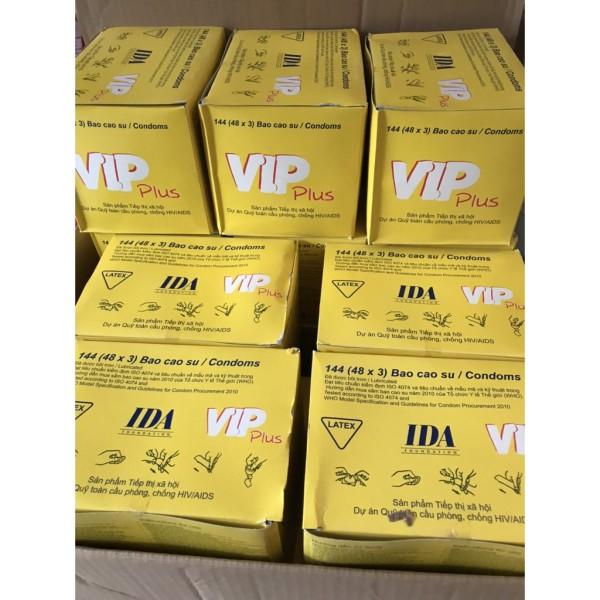 10 hộp Bao cao su Vip vàng (144 cái/hộp)(Vip Trắng)