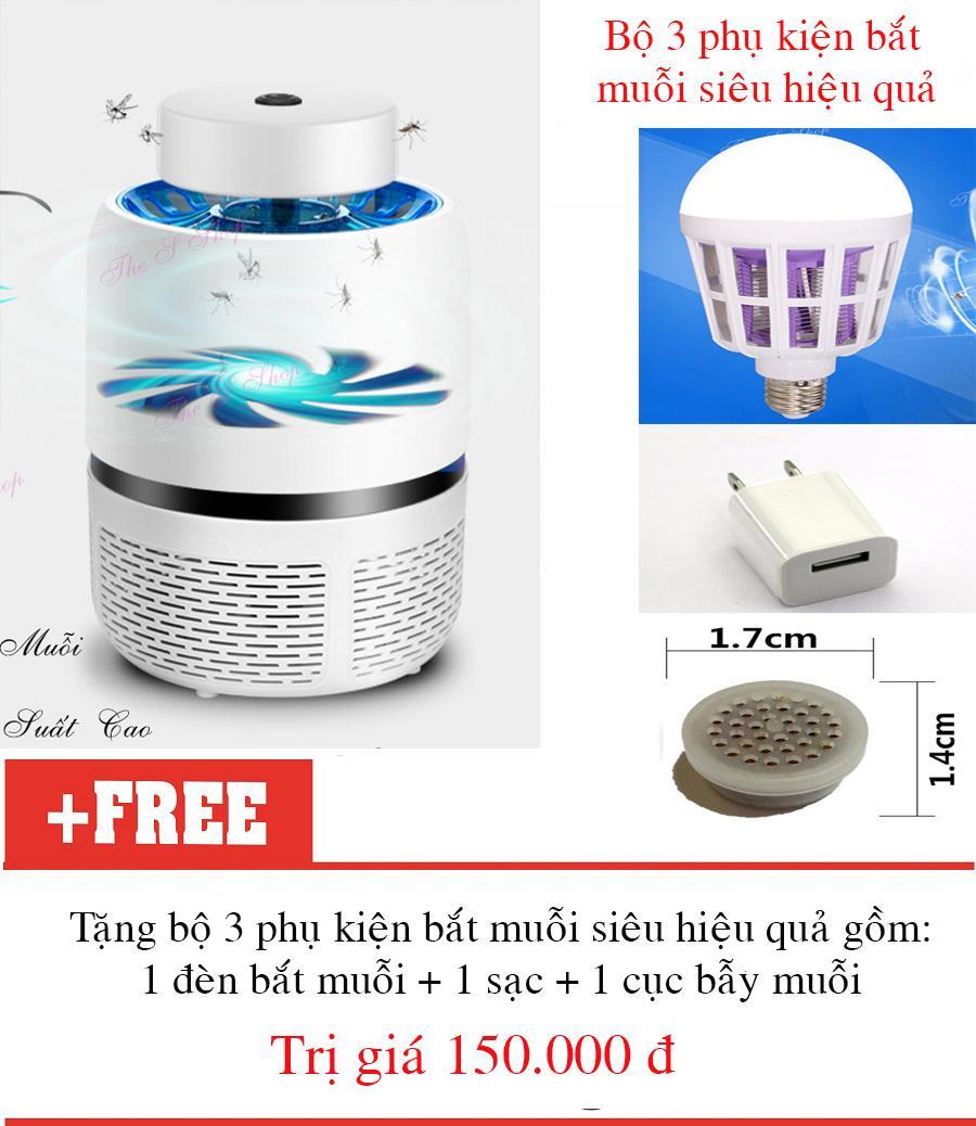 Máy Bắt muỗi, diệt công trùng Eddrac+tặng 3 phụ kiện bắt muỗi cao cấp