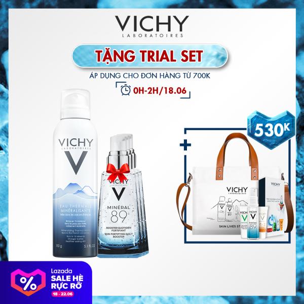 Bộ Sản Phẩm Xịt khoáng dưỡng da Vichy Mineralizing Thermal Water 150ml cao cấp