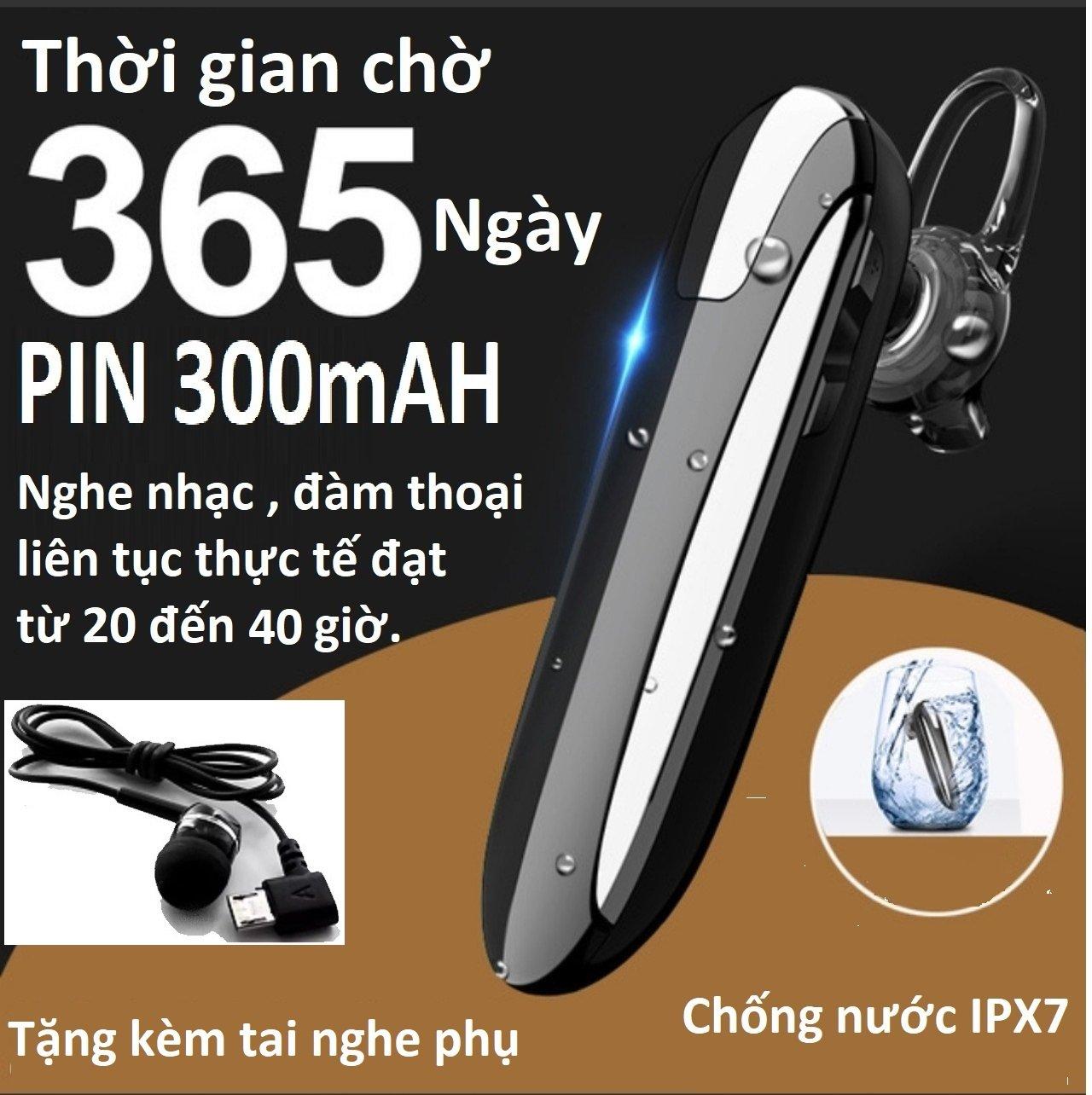 Tai nghe bluetooth X8 chip 5.0, chống nước, pin 300mAh , kết nối 2 điện thoại, điều khiển giọng nói ,nghe nhạc 30h, đàm thoại 36h, tặng kèm tai nghe phụ.