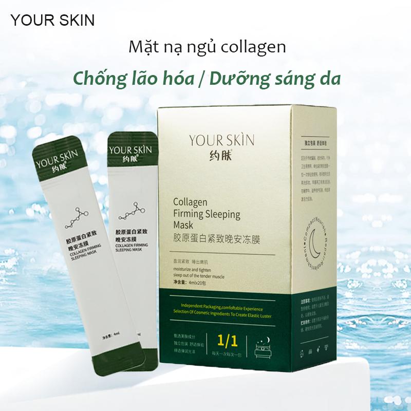 [Hộp 20 gói] Mặt nạ ngủ collagen YOUR SKIN dạng gel chống lão hóa làm sáng da mặt nạ ngủ dưỡng ẩm mặt nạ ngủ dưỡng trắng mặt nạ nội địa Trung XP-MN301 giá rẻ
