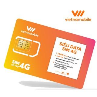 [Miễn Phí tháng đầu] Sim Siêu Data 4G Vietnamobile 30GB tháng - Duy trì chỉ 20k tháng thumbnail