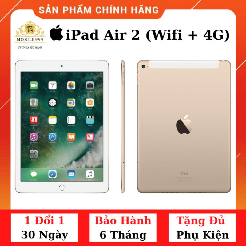 iPad Air 2 (Wifi + 4G) 16G /32G /64GB Chính Hãng - Zin Đẹp - Màn Retina sắc nét - Tặng phụ kiện + Bao da - 1 đổi 1 30 ngày - BH 6 tháng - MOBILE999