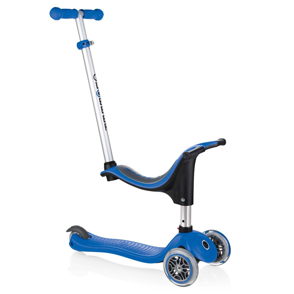 Xe trượt scooter Globber My Free Seat 4 in 1 (EVO 4 in 1) - Xanh da trời
