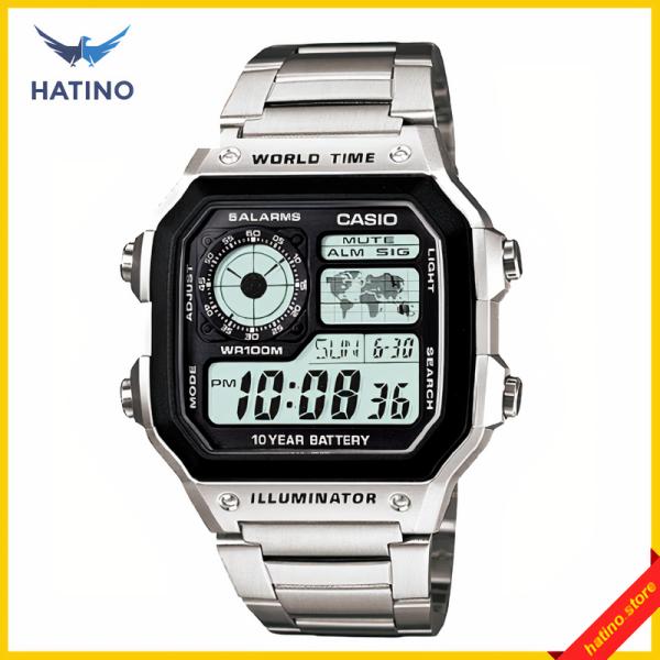 Nơi bán Đồng hồ nam Casio AE1200 worldtime trẻ trung sang trọng, 3 màu mặt, 2 màu dây đa dạng phong cách- Hatino.store