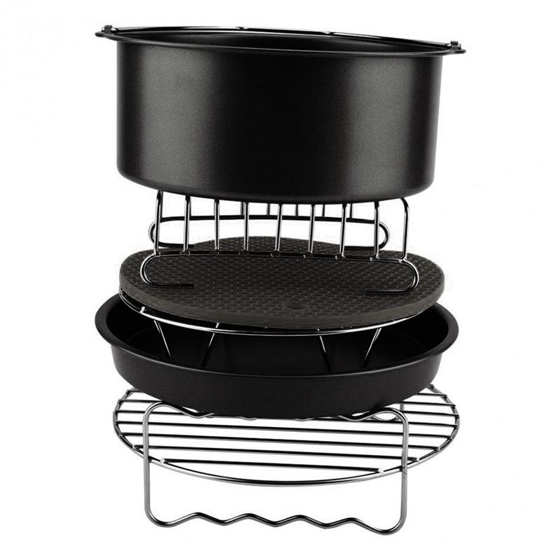 6Pcs Durable Baking Basket Pizza Plate Air Fryer Accessories For Cooking Kitchen