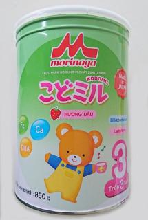 Date tháng 12 2021-Sữa Morinaga Số 3 Kodomil Cho Bé Từ 3 Tuổi - Hương dâu 850gr (Tách đai) thumbnail