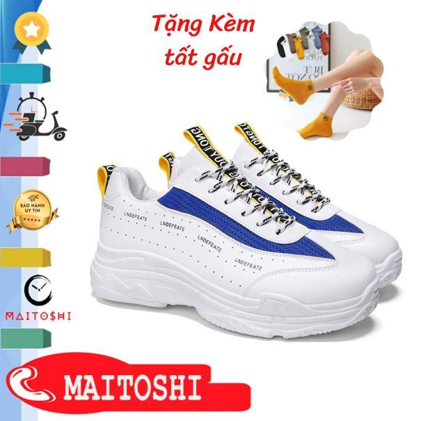 Giày Thể Thao Sneaker Nữ MAITOSHI-1068R Tăng Chiều Cao 6cm Tặng Kèm Tất Cổ Ngắn cực dễ thương giá rẻ