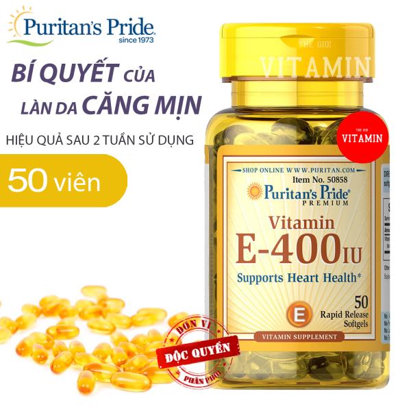 vitamin E-400IU Puritans pride 50 viên nhập khẩu