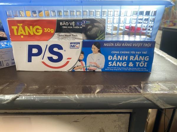 Kem đánh răng PS ngừa sâu răng vượt trội cùng đánh răng sáng và tối 180g Tạp hóa HIền Trang mart
