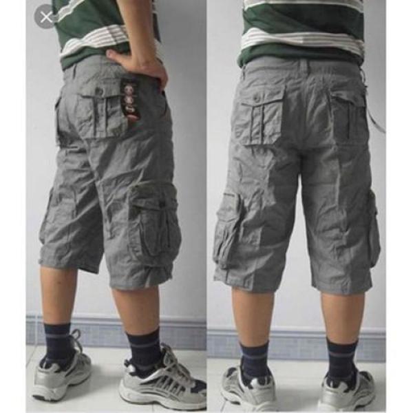 Quần SHORT KAKI dành cho Nam kiểu dáng túi hộp, form suông thoải mái, phong cách chuẩn thời trang cao cấp dễ phối đồ