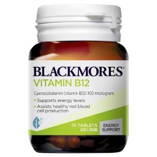 [ Hàng Chính Hãng Úc ] Viên uống bổ sung vitamin B12 Blackmores vitamin b12 (cyanocobalamin) 100mcg 75 viên thumbnail
