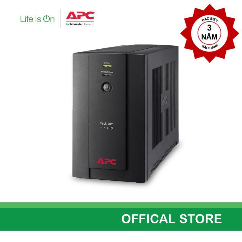 Bảng giá [Khuyến mãi- Miễn phí bảo hành năm thứ 3] - Bộ lưu điện APC: Back-UPS 1400VA, 230V, AVR, Universal and IEC Sockets - BX1400U-MS Phong Vũ